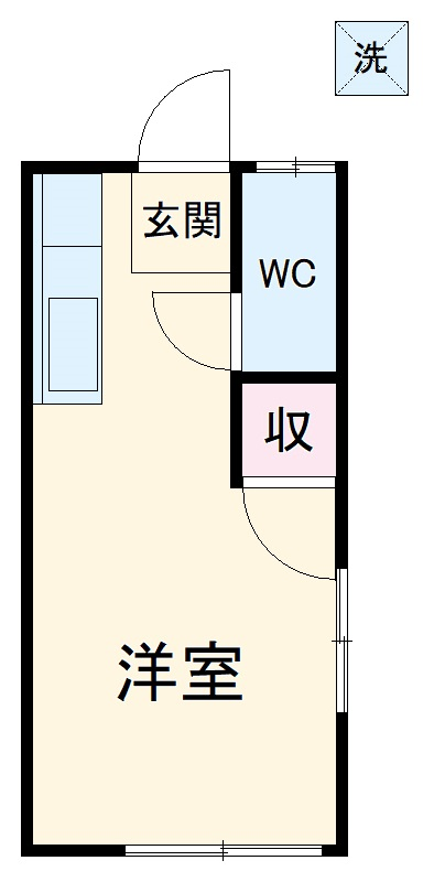 加藤様アパート・203号室の間取り