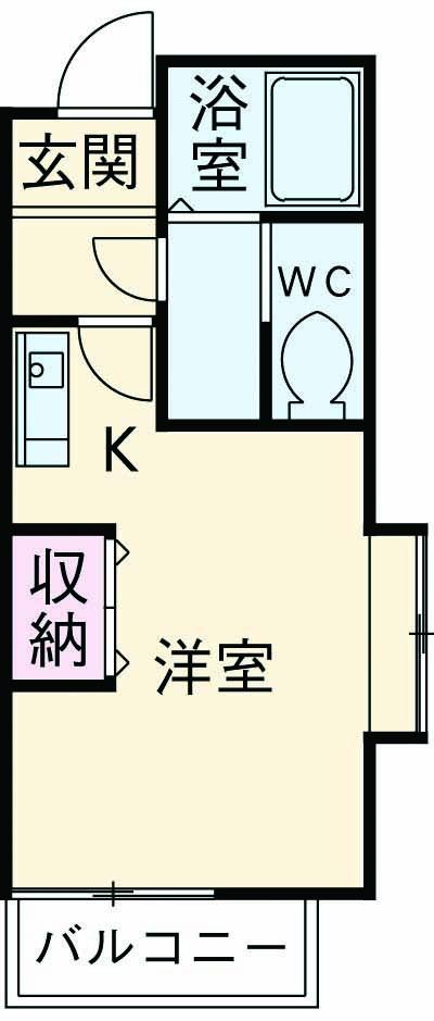 ロワール湘南 B・104号室の間取り
