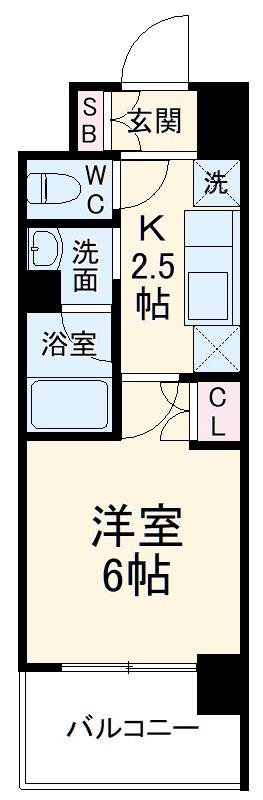 ハーモニーレジデンス武蔵小杉 417号室の間取り