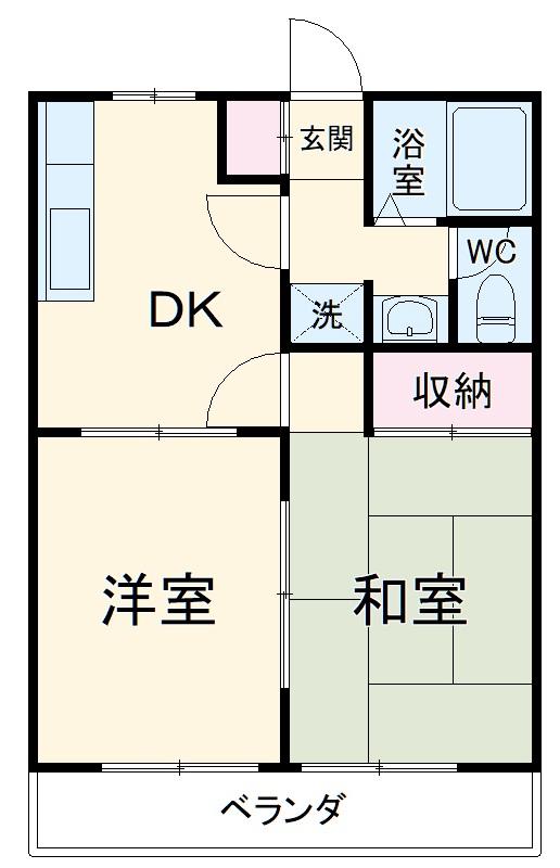 コスモAoi上和田・108号室の間取り