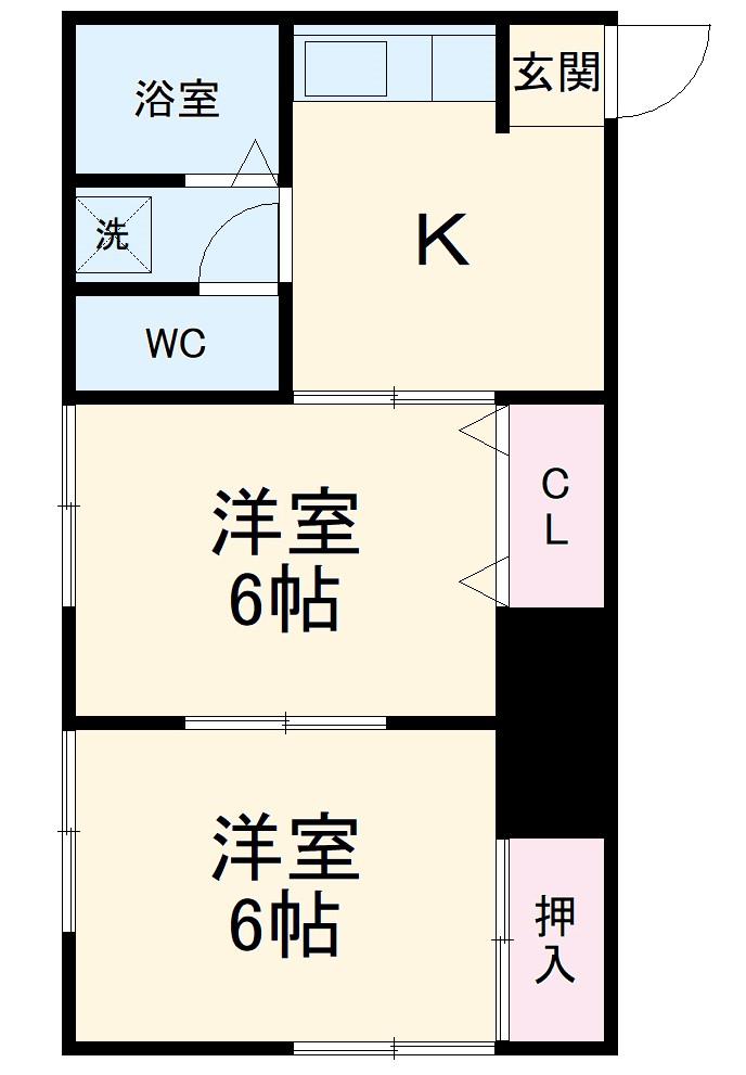ハイツ志村第2・103号室の間取り
