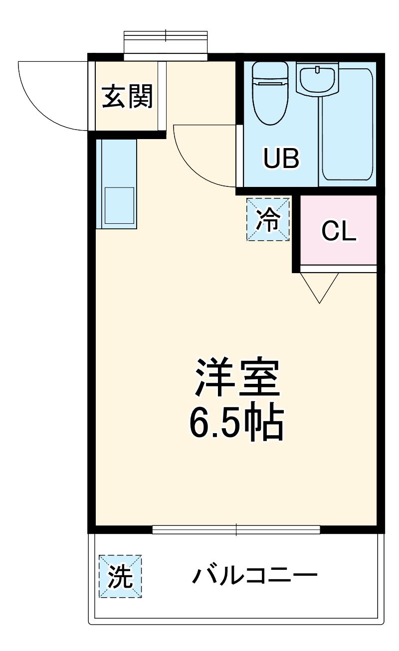 ローズアパートQ37・203号室の間取り