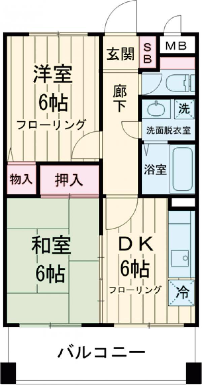 ファインコート南篠崎・302号室の間取り