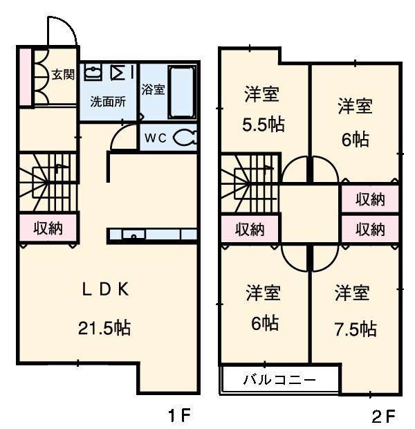 Residence4・A号室の間取り