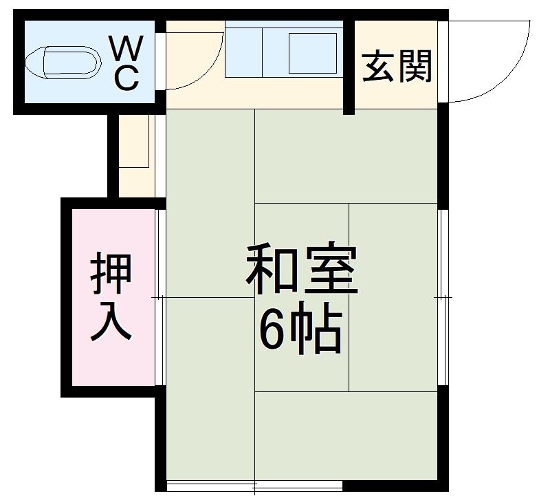 三与荘・13号室の間取り
