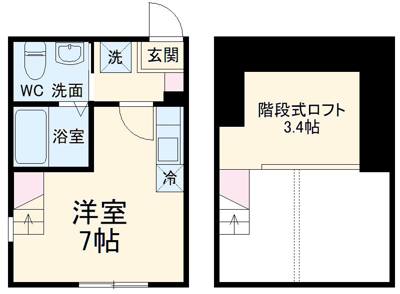 ハーミットクラブハウス戸塚矢部町A棟 103号室の間取り