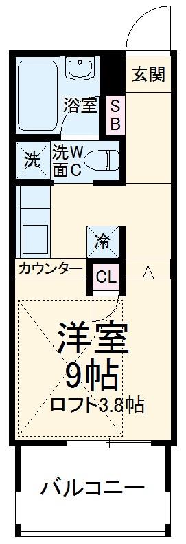 Aquila Urayasu Uno・1002号室の間取り