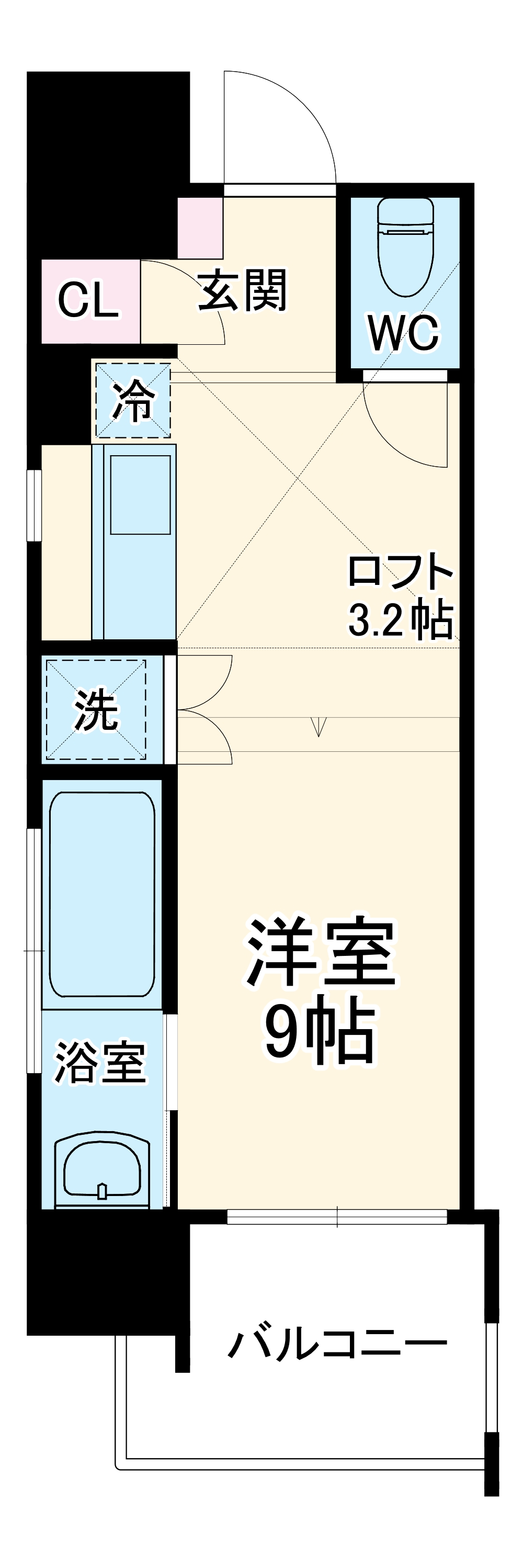 Aquila Urayasu Uno・1103号室の間取り