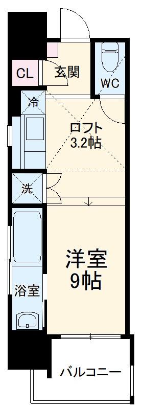 Aquila Urayasu Uno・901号室の間取り