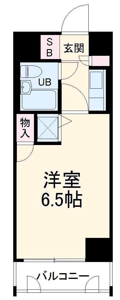 コスモ横浜保土ヶ谷・514号室の間取り