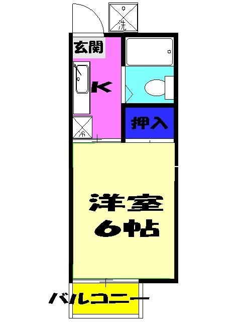 プチコーポ藤崎・205号室の間取り