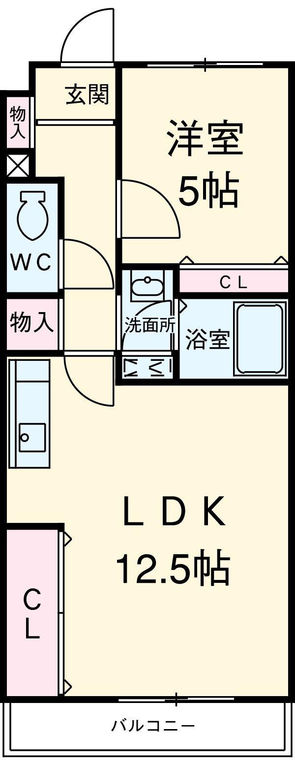 Ks Bird-Honmoku・403号室の間取り