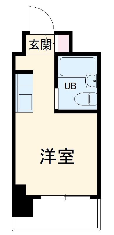 ライオンズマンションヨコハマ戸部・209号室の間取り