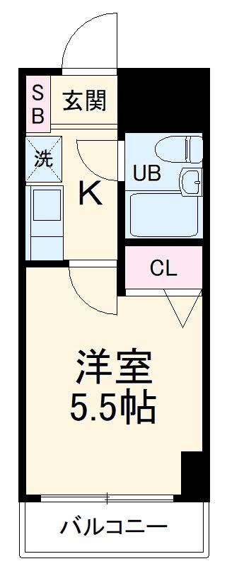 日神パレステージ横浜南・1007号室の間取り