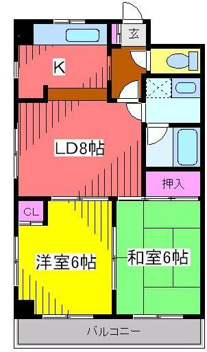 デュオ南篠崎・Y-105号室の間取り
