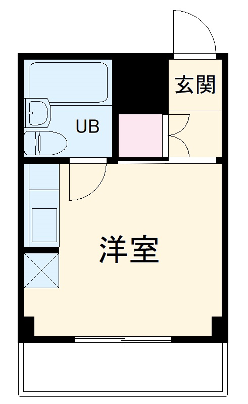 横浜エースマンション 210号室の間取り