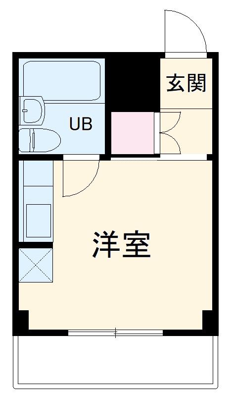 横浜エースマンション 314号室の間取り