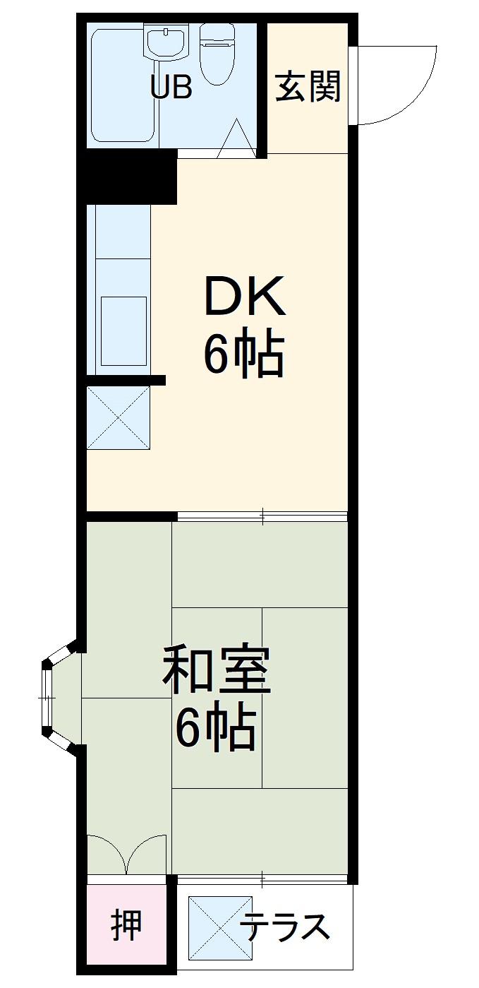 ジョイフル桜ケ丘壱番館・105号室の間取り