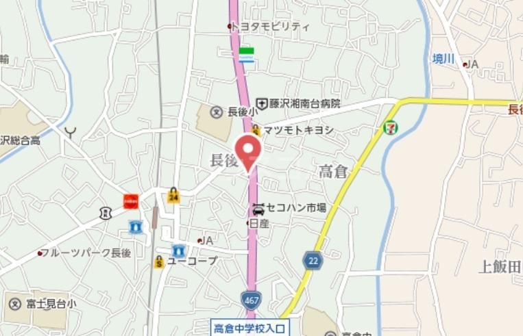 リュエル高倉 102号室の地図