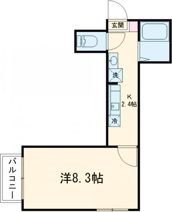 レイモンドハウス・2-C号室の間取り