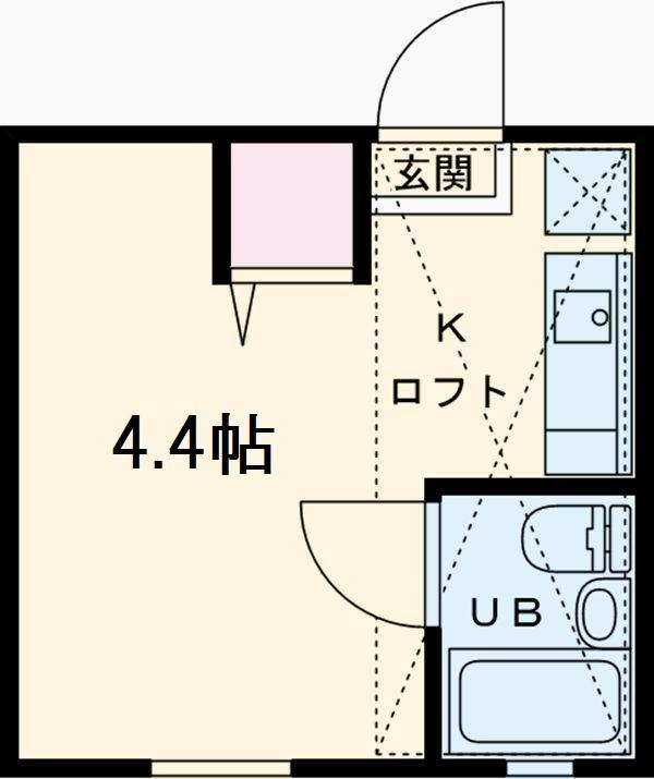 ピュアハウス山手壱番館・102号室の間取り