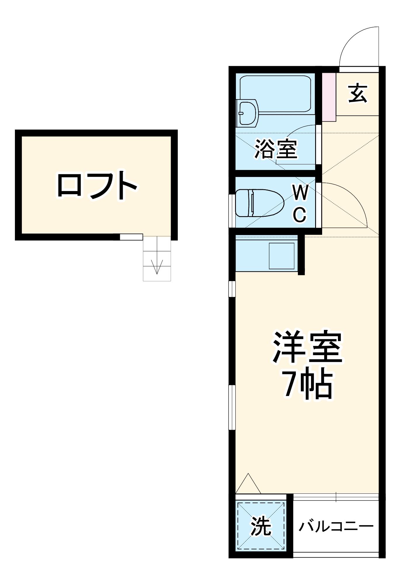 サンサーラ泉弐番館・102号室の間取り