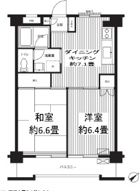 コスモリード浦安北栄・303号室の間取り
