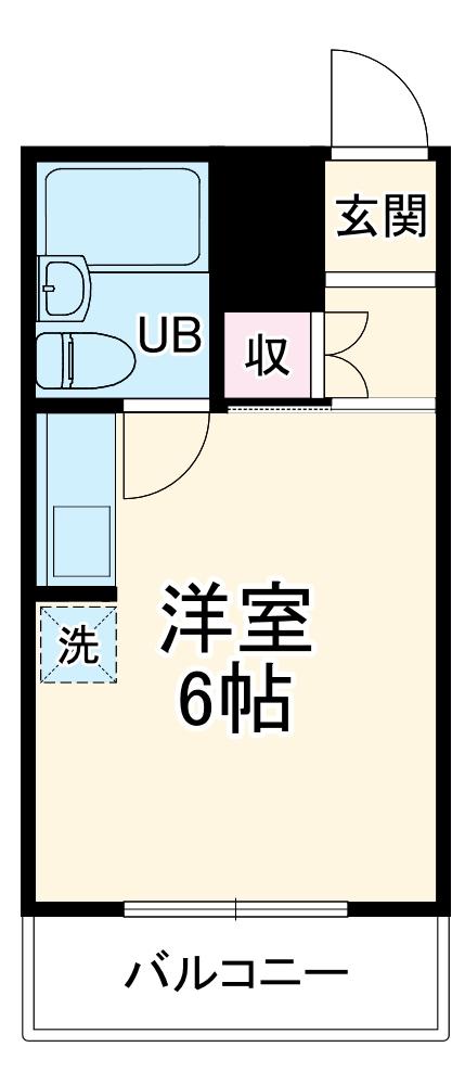 横浜エースマンション 310号室の間取り