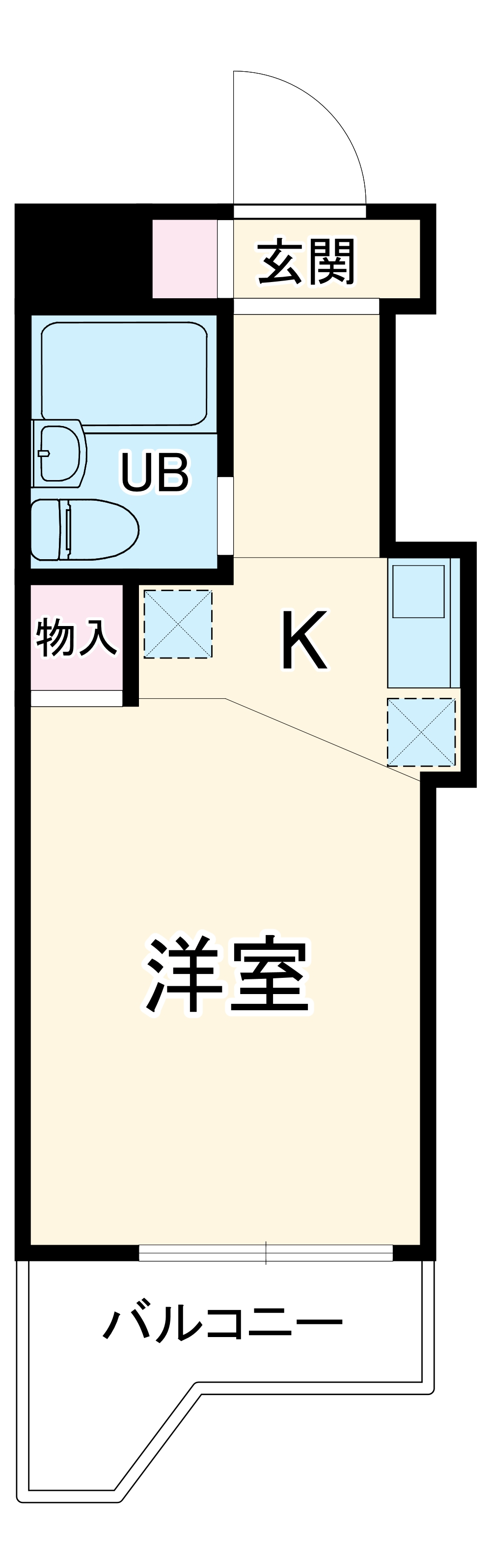 スカイコート綱島第2・514号室の間取り
