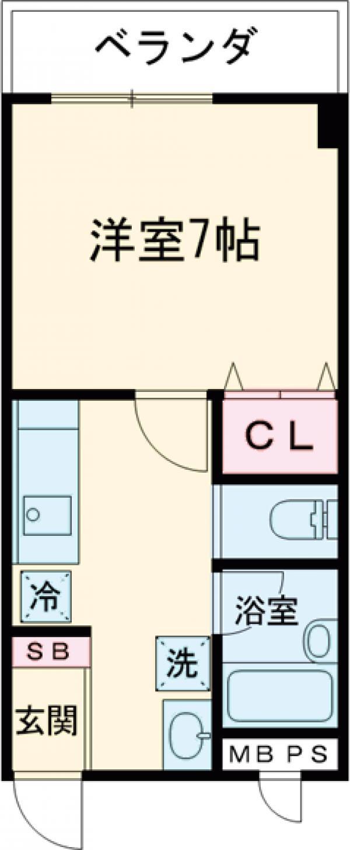 メゾンSUGAⅢ・502号室の間取り
