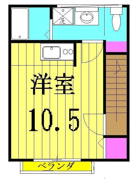 ジラソーレ・206号室の間取り