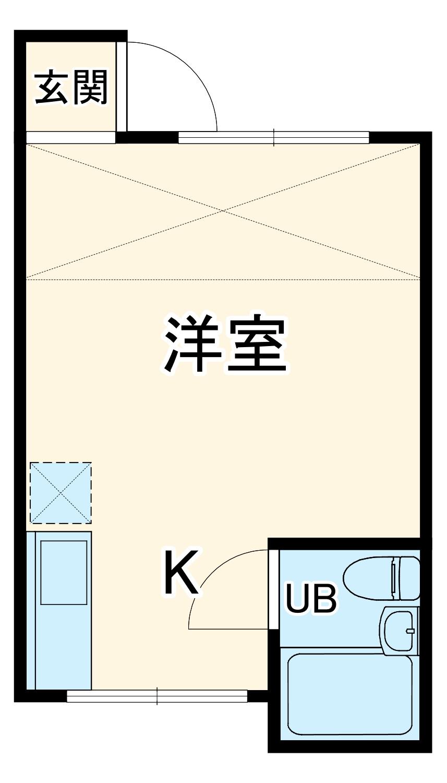ニューライフ横浜・1-B号室の間取り