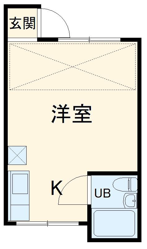 ニューライフ横浜・1-C号室の間取り