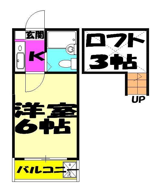 ジュネパレス津田沼第23・206号室の間取り