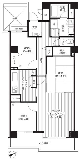 ヒューリックレジデンス京成津田沼・404号室の間取り