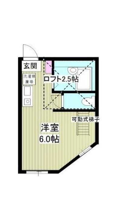 アーヴェル妙蓮寺Ⅱ A棟・205号室の間取り