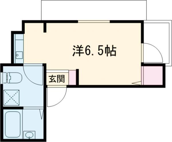 シャレー中目黒カワベ第18 303号室の間取り