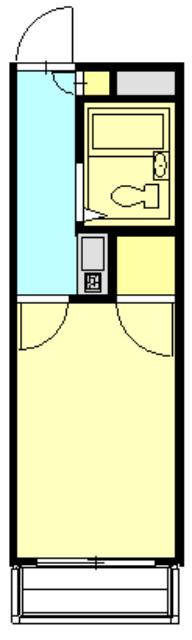 レオパレススエヒロ富岡・102号室の間取り
