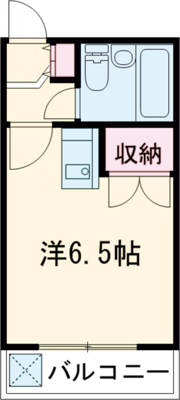 メゾン喜多町・00206号室の間取り