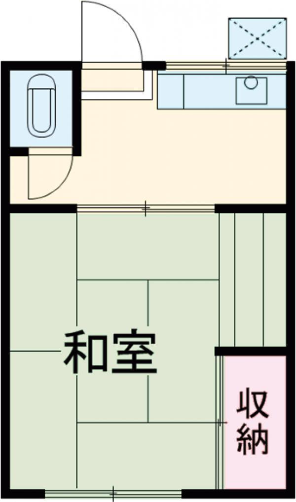 東荘・1号室の間取り