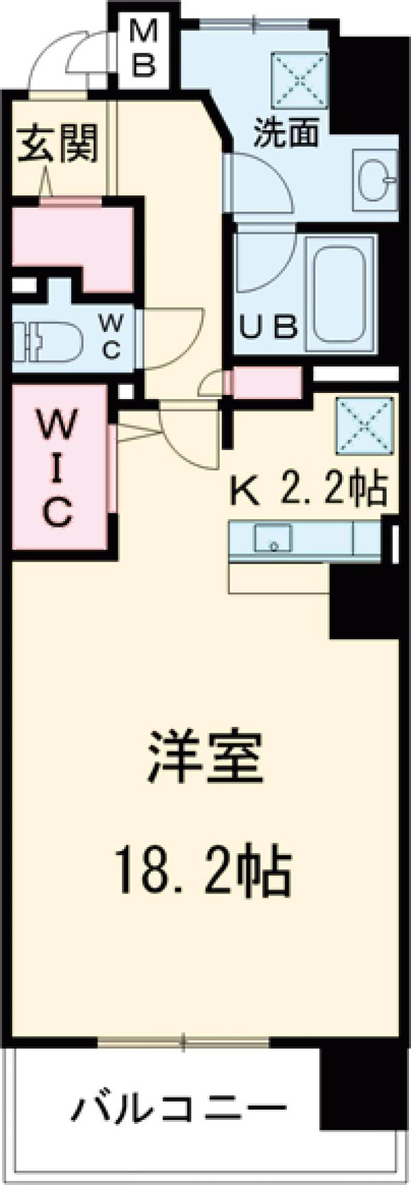 ロイヤルパークス花小金井・726号室の間取り