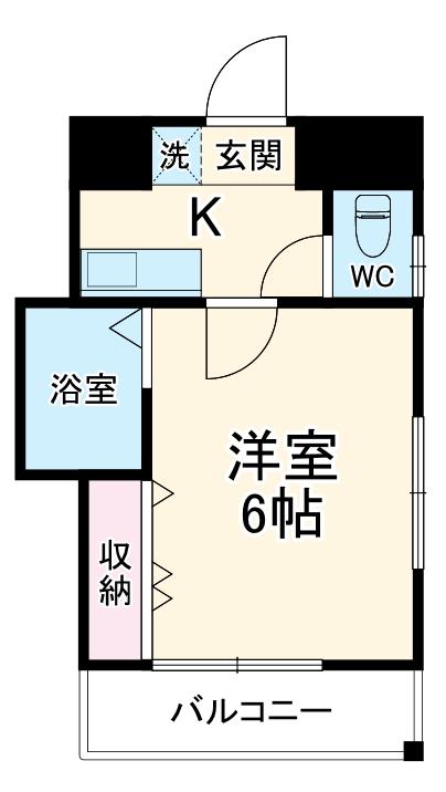 SK西所沢・00401号室の間取り