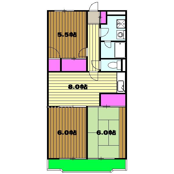 サンライズマンション・00106号室の間取り