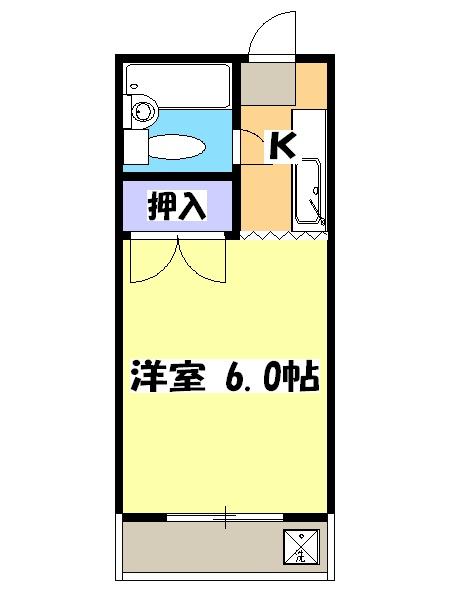 ビューラー三ヶ島Ⅱ 00201号室の間取り