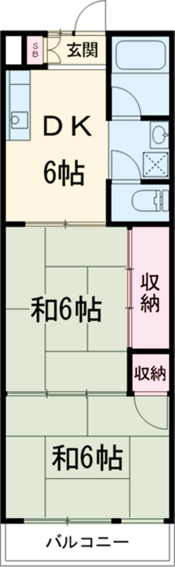 吉田ハイツ・206号室の間取り