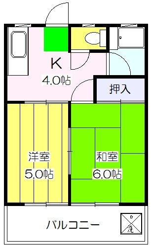 東石井コーポ・303号室の間取り