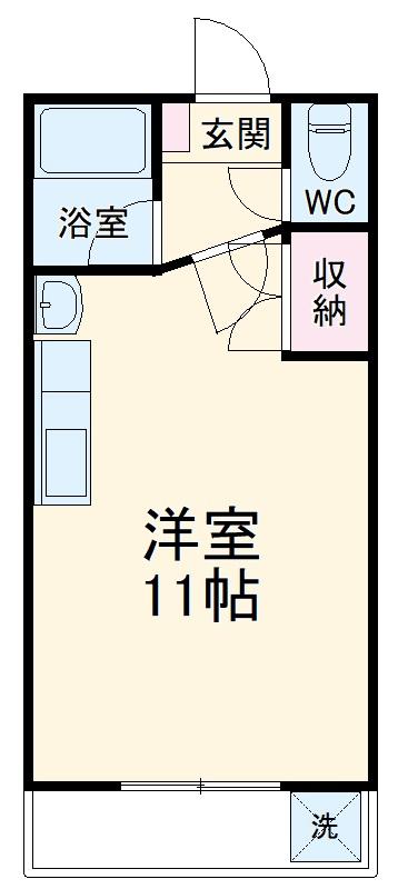 プチリヴェール田町・303号室の間取り