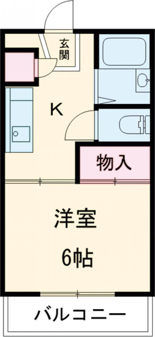 アドニス松江・402号室の間取り