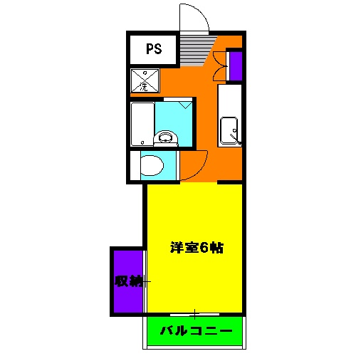 コーポ富士見 310号室の間取り