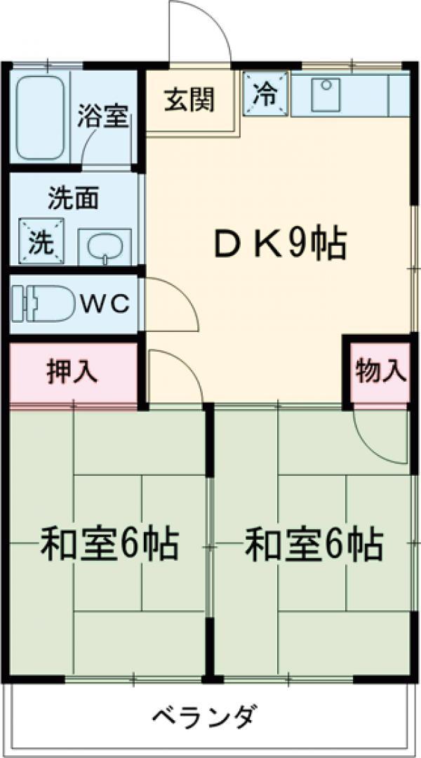 タウニィ長島D棟・203号室の間取り